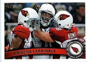 2011 Topps Football Card # 375 Arizona Cardinals Team Card - Arizona Cardinals (Larry Fitzgerald / Max Komar / Steve Breaston) NFL Trading Card