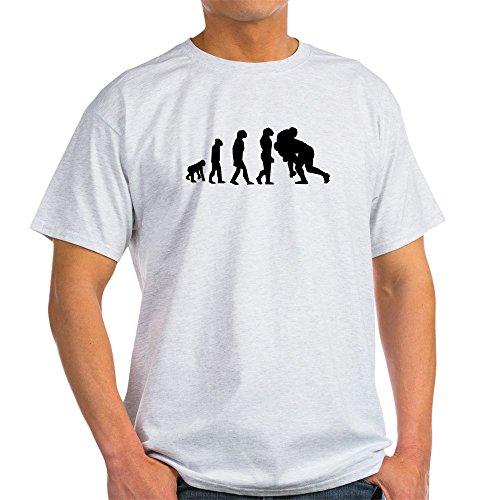 CafePress Funny Einzigartiges Design Tee Rugby Tackle Evolution T-Shirt Geschenk Gr. Medium, Ash Grey (Evolution Grey-t-shirt Ash)
