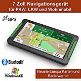 periwinkLuQ GPS Auto Navigationsgerät Auto 7 Zoll Windows System CE 6.0 Navigation 8 GB Bluetooth Bildschirm HD Touch Mapping Europa frei für Das Leben Europa Karte