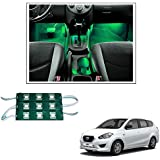 Vheelocityin 9 LED Custom Cuttable Bike/ Car Green Light for Interior/ Exterior For Datsun Go