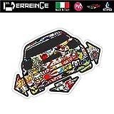 ERREINGE Sticker compatible pour MERCEDES CLASSE A DOWN OUT DUB JDM TUNING STICKER BOMB Autocollant en forme de PVC pour Voiture Lunette Fenetre - cm 35