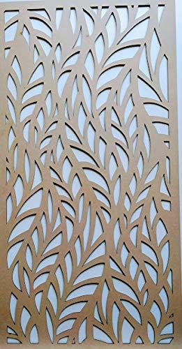LaserKris Heizkörper Schrank Wall Dekorative screening-Grille- Perforiert MDF-Platte (4x 2)