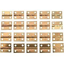 GEZICHTA Bisagras de latón, 20 Unidades de 10 x 8 mm, bisagras pequeñas Decorativas