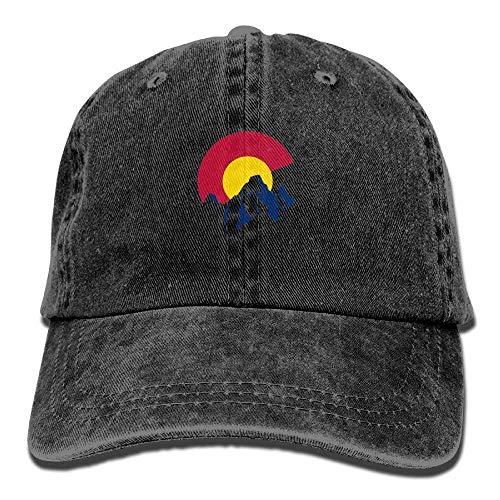 Aeykis Colorado State Flag Adulthood Männer weiblich Unisex einstellbar Trucker Hat Baseball Hats Mesh Cap -