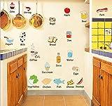 Adesivi E Murali Da Paretecartone Animato Di Frutta E Verdura Nome Scuola Materna Decorazione Adesivo Foto Apprendimento Camera Dei Bambini Adesivo Da Parete Adesivo Frigorifero Poster Da Cucina