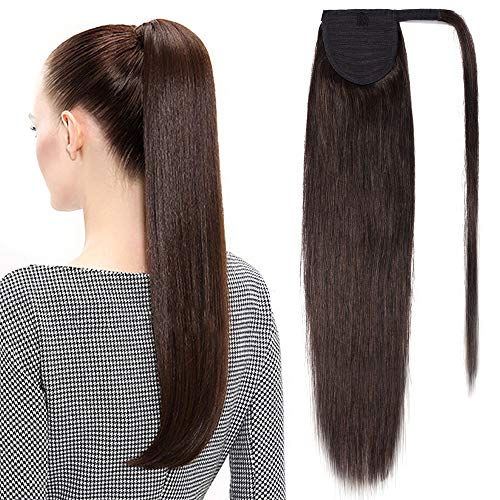 TESS Pferdeschwanz Extensions Echthaar Ponytail Haarteil Clip in Extensions Echthaar Zopf Remy Haarverlängerung günstig 16