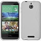 PhoneNatic Case kompatibel mit HTC Desire 510 - weiß Silikon Hülle S-Style + 2 Schutzfolien