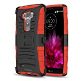 LG G Flex 2 Hülle - MoKo [Heavy Duty Serie] Outdoor Dual