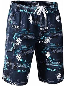 Verano Bañadores de natación pantalones cortos para hombre colorido del traje de baño