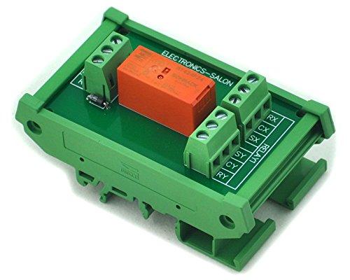 Electronics-Salon Montage sur rail DIN Bistable passif / verrouillage Module de relais de puissance DPDT 8A, version 24V
