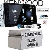 Skoda Fabia 2 Nexus Dance Swing - Autoradio Radio Kenwood DMX110BT - 2DIN Bluetooth | USB | MP3 | 7' TFT Einbauzubehör - Einbauset