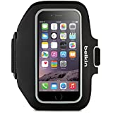 Belkin F8W610 Sport-Fit Plus Fitness Armband with Key and Cash Pocket for iPhone 6 Plus and iPhone 6s Plus - Black