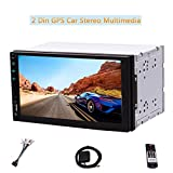 Universal-2 DIN Android 6.0 kapazitive Touch Screen Car Autoradio GPS-Navigation Eingebautes WIFI 4G Dongle RDS-System Externes Mikrofon SD / USB FM Transmitter Bluetooth-Fernbedienung Videos Audio-P
