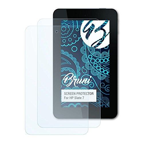Bruni Schutzfolie für HP Slate 7 Folie, glasklare Bildschirmschutzfolie (2X)