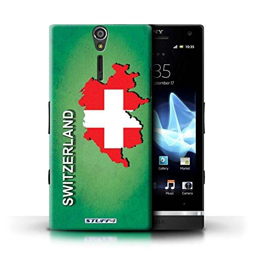 Kobalt® Imprimé Etui / Coque pour Sony Xperia S/LT26i / grande-Bretagne conception / Série Drapeau Pays Suisse/Swiss