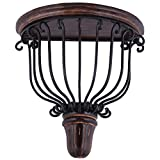 Crafts A to Z Fancy Mango Wood and Wrought Iron Wooden Wall Bracket/Shelve Decorative for Living room