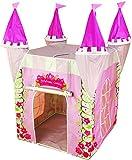 Tenda casette da gioco a Forma di Castello delle Principesse, rosa per le ragazze, piegatura, educativo e stimola l'immaginazione, (interni ed esterni)
