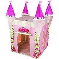 Tienda de Jugar Castillo Princesa para niña, estimula la imaginación y es educativa. Para interior y exterior, es casa campaña/carpa plegable de tela, ideal juguete regalo infantil cumple Kiddus KI60108