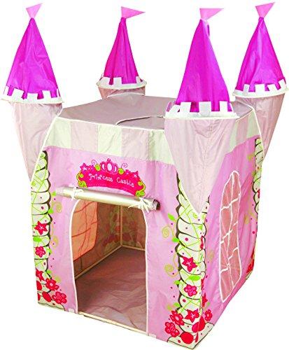 Tenda casette casa da gioco, castello delle principesse, piegatura, rosa per le ragazze, bambini bimbi, educativo e stimola l'immaginazione, interni ed esterni, protezione UV, Kiddus KI60108