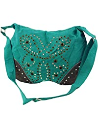 Guru-Shop - Bolso cruzados para mujer Verde verde