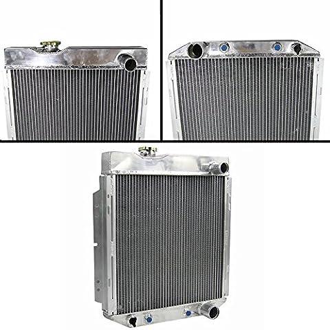 ALLOYWORKS 4 ROW CORE ALUMINUM RADIATOR FOR FORD MUSTANG V8 260 289 AUTO/MANUAL 1964-1966