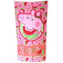 Toalla de playa Peppa Pigde color rosa (70x140 cm).