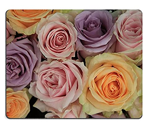 Mousepads Mixed pastel roses in a wedding arrangement IMAGE ID 21693231 by Liili Customized Mousepads Stain Resistance Collector Kit Kitchen Table Top Desk Drink Customized Stain Resistance Collector Kit Kitchen Table Top