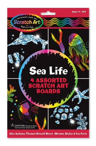 Melissa & Doug Scratch Art Meerestiere