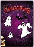 Gespenster Einladungskarten zum Kindergeburtstag mit Geistern schön gruselig Ideal zu Halloween Party 10 Stück für Kinder Erwachsene Jungen Mädchen Frau Mann Einladung Geburtstag