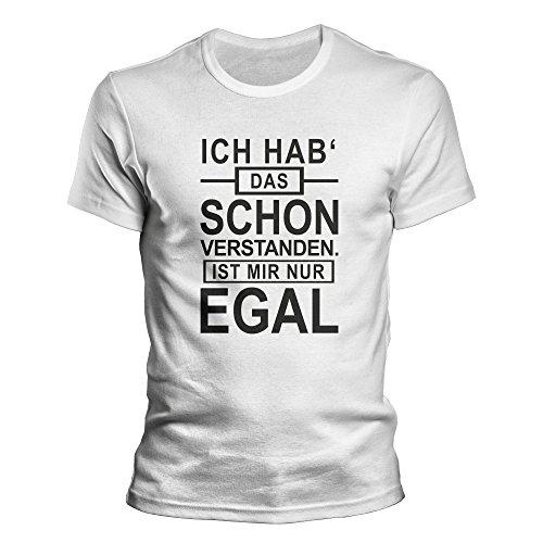 DragonHive Herren T-Shirt Ich hab das Schon Verstanden egal, Größe:XL, Farbe:Weiß