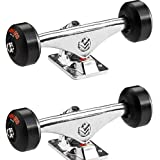 """Mini Logo Polished Assembly Kit Inlcudes 53mm 90a Black Wheels - 5.0"""" Hanger 7.13"""" Axle (Set of 2)"""