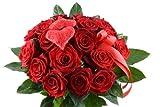 Blumenversand - Blumenstrauß - I Love You / Ich liebe Dich- mit 15 Rosen rot Red Naomi - mit Gratis - Grußkarte zum Wunschtermin verschicken