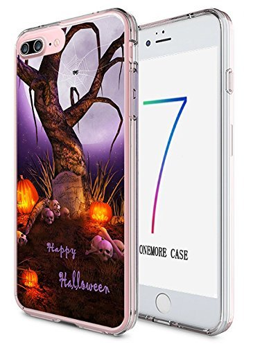 ne 7Plus Hard Cover 14cm Ultra Slim Dünn Happy Halloween, Style-11 ()
