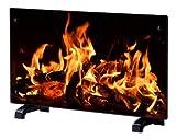 EFYDIS EF070 - Chimenea eléctrica (1000-2000 W, termostato), Color Negro
