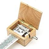 Faway Music Box fai da te a manovella carillon in legno con perforatrice e nastri di carta