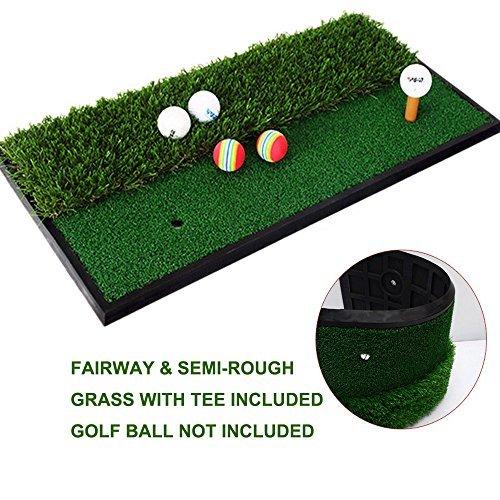 Foxcesd Tapis de golf, Golf A tapis avec réaliste de parcours et de premiers Portable Tapis de...