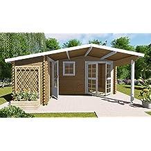 AL Wood Ltd - Cabaña de Madera para jardín, Oficina, Forma de L,
