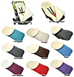 Chancelière universelle pour poussette laine confortable orteils pour siège auto