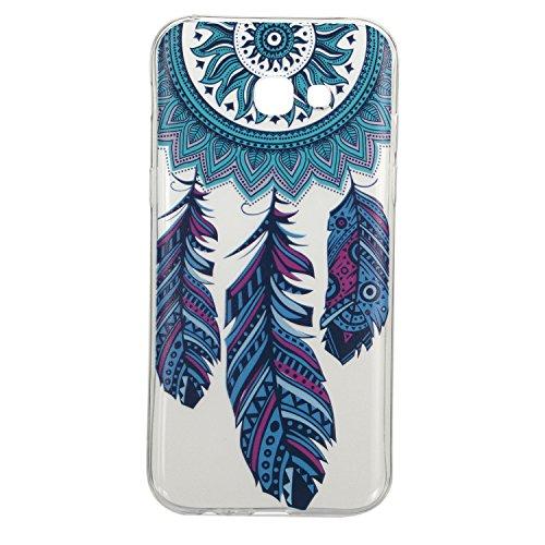 Galaxy A5 (2017) hülle,Samsung A5 (2017) Case, Cozy Hut Kratzfeste Plating TPU Silicone Case Schutzhülle Ultra Dünn Tasche für mit Samsung Galaxy A5 (2017) Hülle Case Transparent - Blaue Campanula