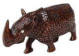 SouvNear Madera Rinoceronte Escultura-tallado a mano-Rinoceronte...