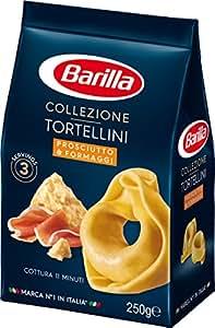 Barilla Tortellini Pâtes fourrées au jambon et au fromage 250 g - Lot de 5