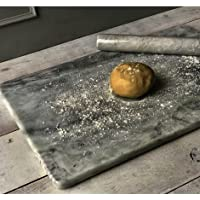 Marble Pastry Board Extra Large 60cm x 40cm Light Grey