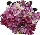 Live with Love deko blumen künstlichn 10 Kopf Lovely lila Hortensie perfekt für Hochzeit, Party, Garten,Zuhause Dekoration DIY