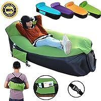 Inflable sofá tumbona de con portátil bolsa de transporte. inflable sofá tumbona de es ideal