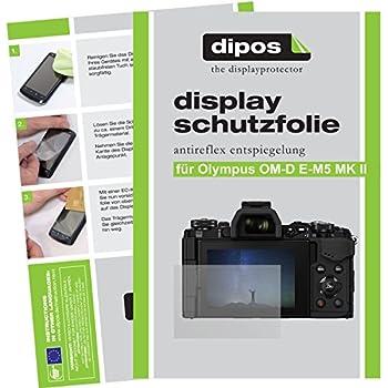 2x Displayschutzfolie Matt Olympus OM-D E-M5 Mark II Schutzfolie Folie