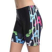 MYMYU Mujeres Ciclismo Shorts 3D Gel Tapicería Ciclismo Pantalones Cortos Ciclismo Ciclo Ciclismo Transpirable Pantalones Cortos (Colour 1, XL)