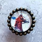 ZTZT Personnalité américaine monotrou en cristal de cristal de caractère poignée de cheval à la tête de cheval de la chambre de la jeune fille réussie avec la selle à gauche