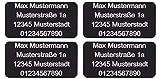CopterFarm Drohnen Kennzeichnung Plakette Adressgravur Kennzeichen Schild Feuerfest Selbstklebend 1 - 8er Set (4X Micro 20x10mm)