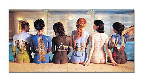 Yin Art Yin Kunstdruck auf Leinwand Art Wand-Pink Floyd Album Covers Bemalt auf nackter Frauen Modern 16'' x 32'' Multi -