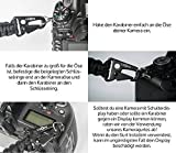 C-Rope Kameragurt aus Paracord in 100cm als Nackengurt mit hochwertigen Schnellverschluss Karabinern für DSLR-, und Systemkameras - Maroon/Gun Grey Test